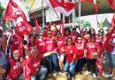 Sindicato dos Bancários marca presença no 1º de Maio das Centrais Sindicais